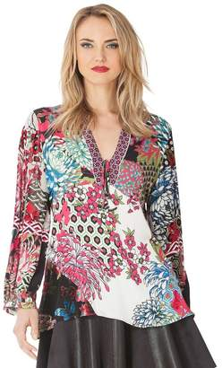 be7999e75cf3e6 Hale Bob Amberlynn Silk Burnout Tunic