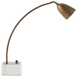 Harper Task Lamp - White/Brushed Brass - Gabby