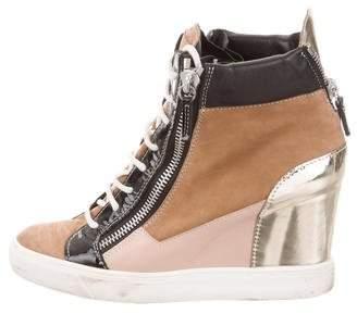 Giuseppe Zanotti Round-Toe Wedge Sneakers