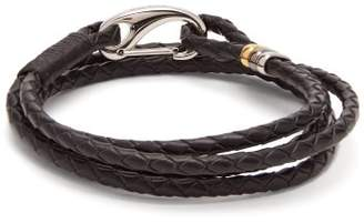 Paul Smith Triple Wrap Leather Bracelet - Mens - Black