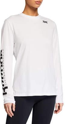 Reebok x Victoria Beckham Long-Sleeve Logo Tee