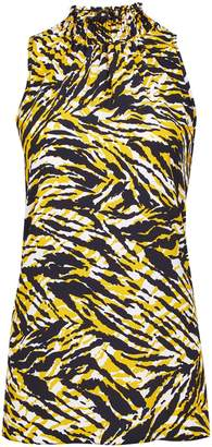 Dorothy Perkins Womens **Tall Yellow Zebra Print Halter Neck Top