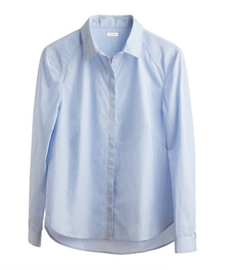 Cuyana Poplin Pleat-Back Shirt