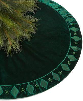 Holiday Lane Green Velvet Tree Skirt
