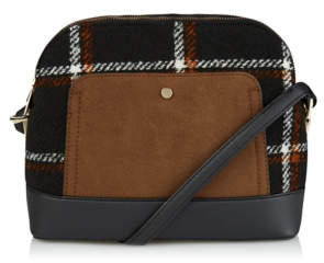 George Checked Cross Body Bag