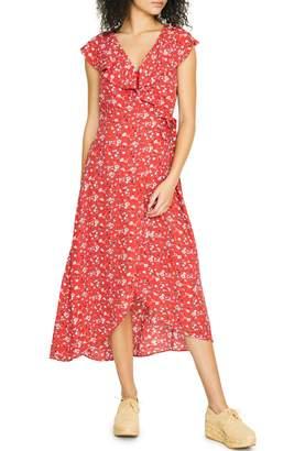 Sanctuary Jolynn Faux Wrap Midi Dress