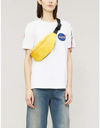 Alpha Industries Appliquéd cotton-blend T-shirt