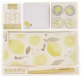 Harrods Lemon Stationery Set