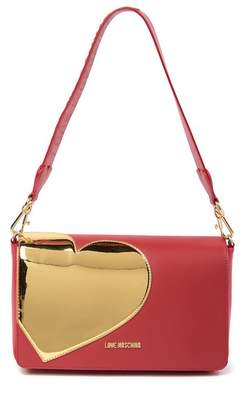 Love Moschino Gold Heart Clutch Bag