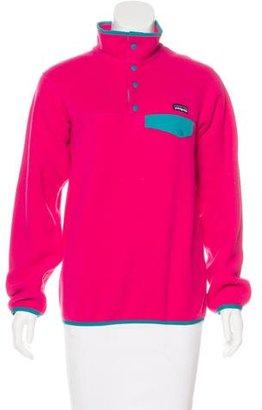 Patagonia Fleece Mock Neck Sweater $50 thestylecure.com