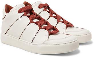 Ermenegildo Zegna Tiziano Panelled Leather High-Top Sneakers