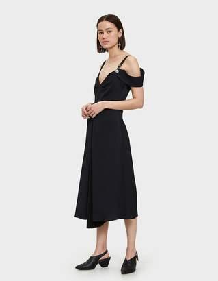 Proenza Schouler Sleeveless Open Shoulder Dress