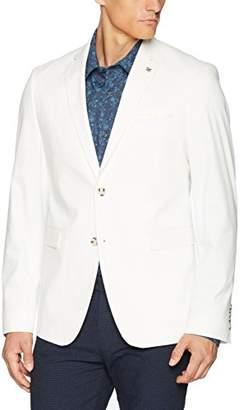 Original Penguin Men's Two Button Slim Fit White Cotton Twill Suit Separate Jacket