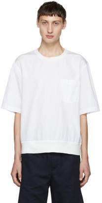 3.1 Phillip Lim White Rib Hem T-Shirt