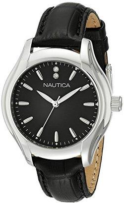 Nautica Women's NAD11003M NCT 18 MID Analog Display Quartz Black Watch $110 thestylecure.com