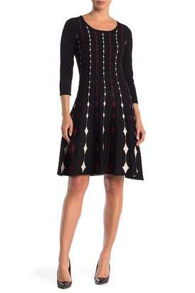 Gabby Skye Diamond Elbow Sleeve Sweater Dress