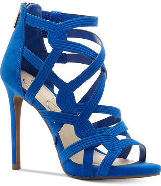 Jessica Simpson Rainah Strappy Dress Sandals $98 thestylecure.com