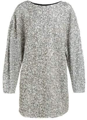 Isabel Marant Xana Sequin Embellished Mini Dress - Womens - Silver