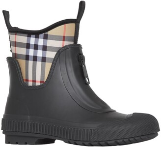 Burberry Flinton Check Waterproof Rain Boot