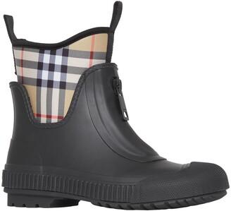 05ca8a956a Burberry Flinton Check Waterproof Rain Boot
