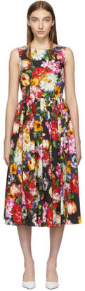 Dolce & Gabbana Multicolor Floral Flared Dress