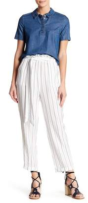 Flying Tomato Striped Ruffle Waist Paperbag Pants