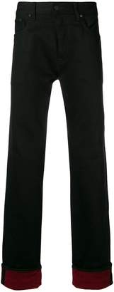 Tommy Hilfiger contrasting cuffs jeans