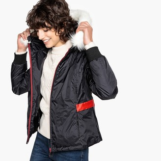 La Redoute COLLECTIONS Faux Fur Hood Padded Jacket