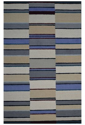 Eastern Weavers Hand-Woven Ivory/Blue Area Rug Eastern Weavers