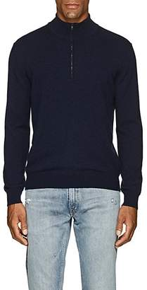 Barneys New York Men's Cashmere Half-Zip Mock-Turtleneck Sweater - Navy