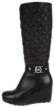Michael Kors Quilted Wedge Boots