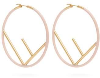 Fendi F Is Hoop Earrings - Womens - Pink