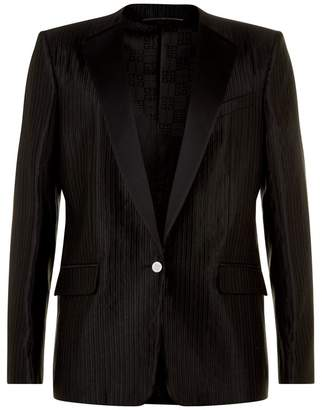 Givenchy Ottoman Wool Collarless Blazer
