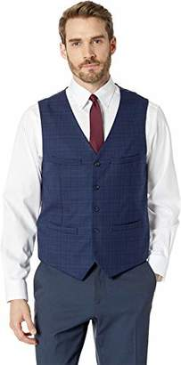 Perry Ellis Men's Slim Fit Washable Plaid Suit Vest