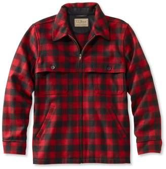 L.L. Bean L.L.Bean Men's Maine Guide Zip-Front Jac-Shirt, Plaid