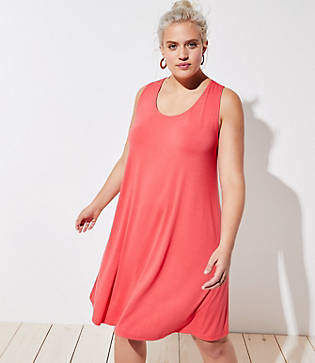 LOFT Plus Knot Back Sleeveless Swing Dress