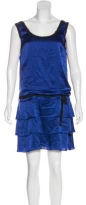 Alberta Ferretti Sleeveless Silk Dress