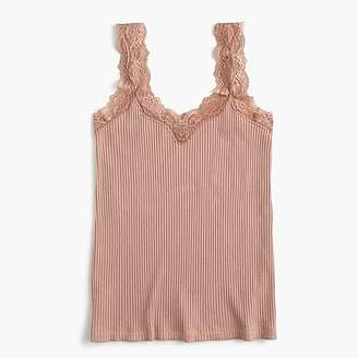 J.Crew Lace trim tank top
