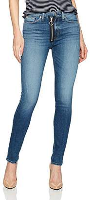 Hudson Women's Barbara High Rise Super Skinny Jean with Exposed Zipper