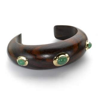 The Branch Rosewood and Gold 3-Stone Cuff. Size Small/Medium