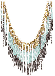 Juicy Couture Laurel Canyon Dipdye Fringe Necklace