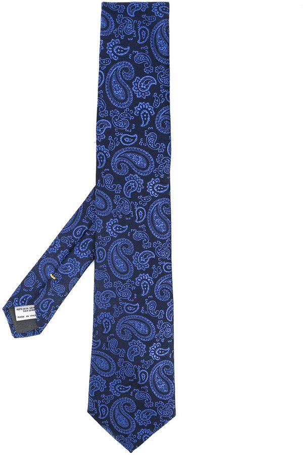 Canali Canali paisley tie