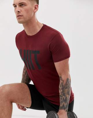 Hiit HIIT logo t-shirt in burgundy