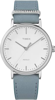 Timex R Fairfield Leather Strap Watch, 37mm