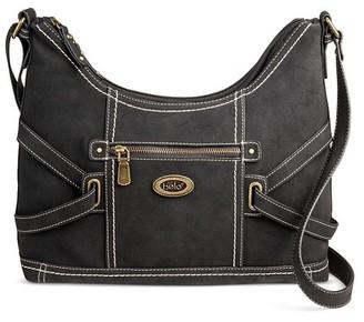 Bolo Women's Faux Leather Crossbody Saddle Handbag with Zip Closure $39.99 thestylecure.com