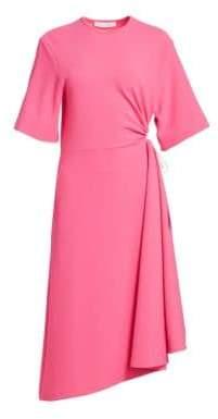 See by Chloe Women's Crepe Short Sleeve Midi Dress - Navy - Size Large