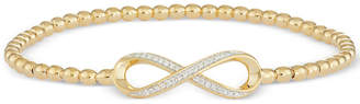 Wrapped Diamond Infinity Stretch Bead Bracelet (1/6 ct. t.w.) in 14k Gold over Sterling Silver, Created for Macy's
