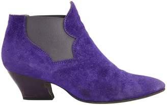 Acne Studios Purple Suede Boots