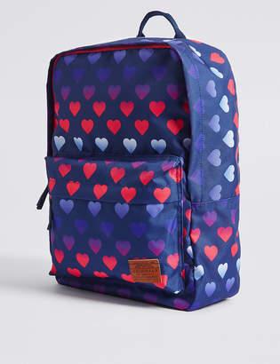Marks and Spencer Kids' Heart Print Backpack