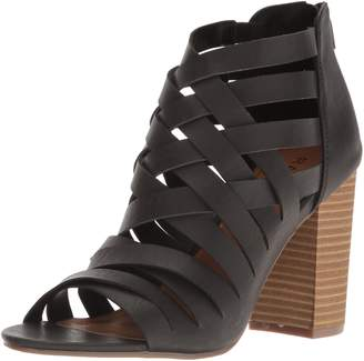 Rampage Women's Tariah Caged Strappy High Heel Stacked Sandal